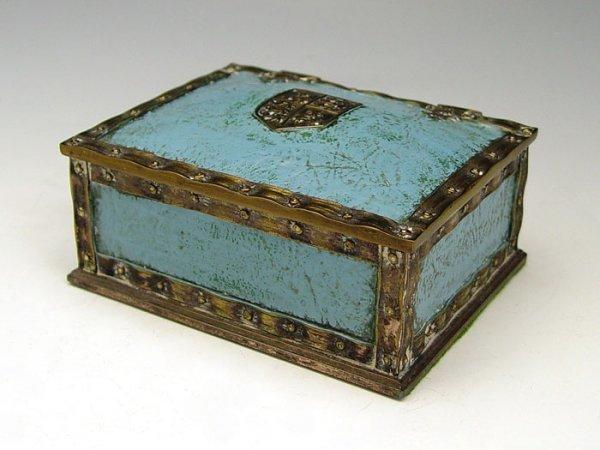 7: TIFFANY STUDIOS HERALDIC DESK BOX 2048