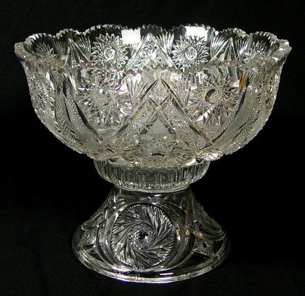 11A: BRILLIANT PERIOD CUT GLASS PUNCH BOWL