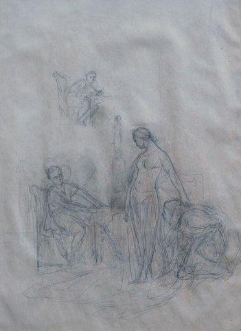 5: JEAN LEON GEROME DRAWING CLEOPATRA