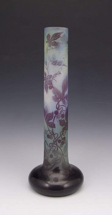 12: GALLE CAMEO GLASS VASE 13''