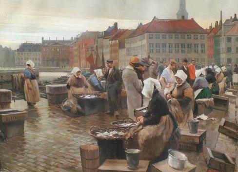 15: SOREN BJULF PAINTING COPENHAGEN FISHMARKET
