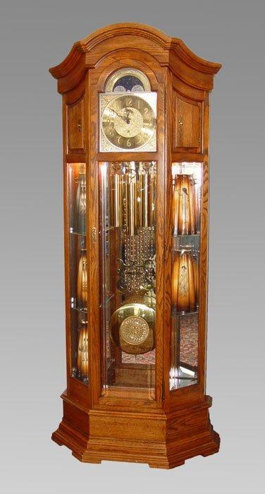 181: HOWARD MILLER MAJESTIC CURIO GRANDFATHER CLOCK