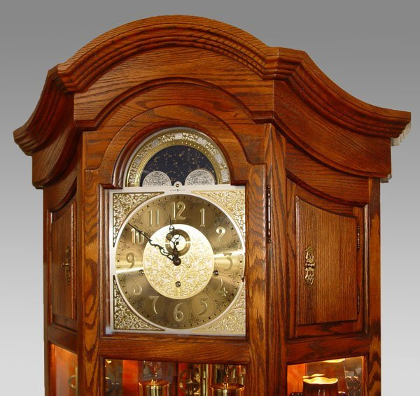 181: HOWARD MILLER MAJESTIC CURIO GRANDFATHER CLOCK - 2