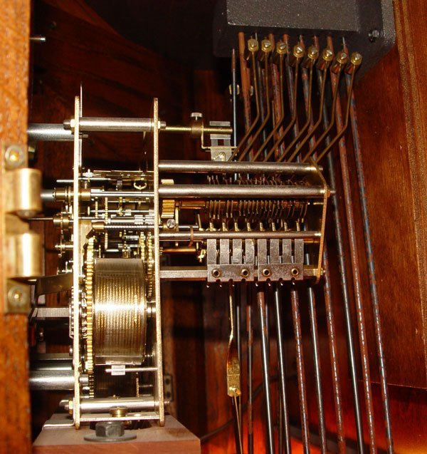 181: HOWARD MILLER MAJESTIC CURIO GRANDFATHER CLOCK - 4