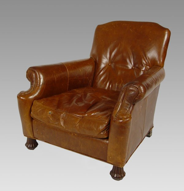 Chair wire chairs missing cover - 228 William Alan Leather Club Chair