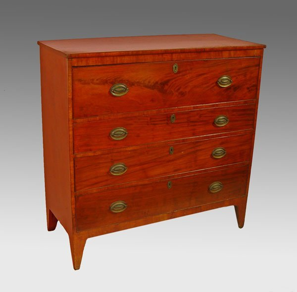 2: HEPPLEWHITE STRAIGHT FRONT CHEST OF DRAWERS