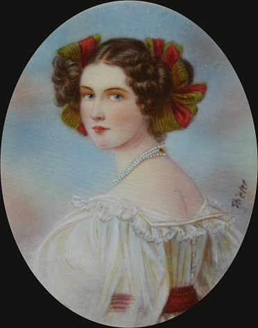 1004: 19 C MINIATURE WATERCOLOR ON IVORY SIGNED STIELER