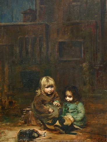 1021: JULES DEGRAVE 19TH CENTURY FRENCH PAINTING