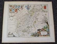 1038 NORTHAMPTON COUNTY MAP CIRCA 1645 BY BLAEU