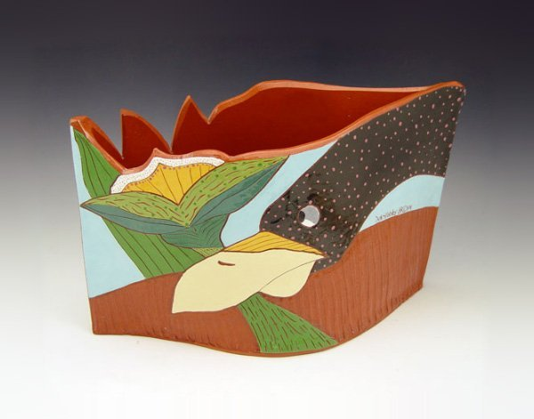 7: DEB STABLEY TROPICAL ART POTTERY