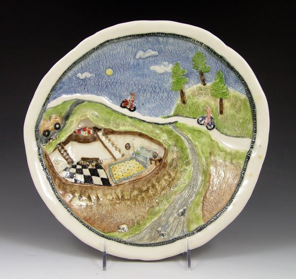 16: LAURA WILENSKY POTTERY CHARGER