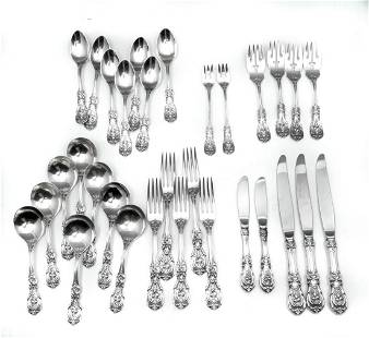 31 PC. REED & BARTON ''FRANCIS I'' STERLING SILVER F
