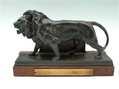 ANTOINE-LOUIS BARYE BRONZE LION