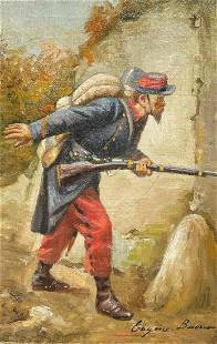 EUGENIO BUONO FRENCH SOLDIER PAINTING