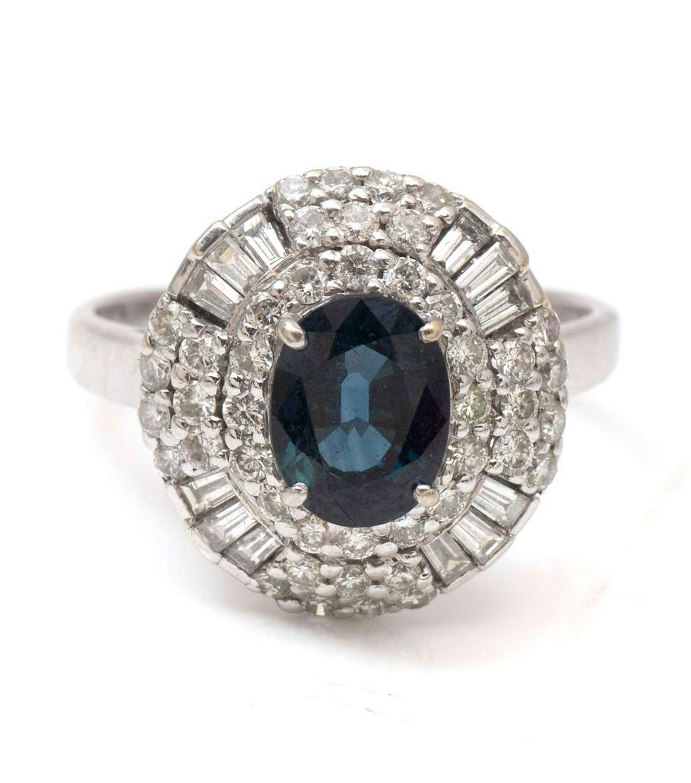 18K 2.52 CT SAPPHIRE & DIAMOND RING