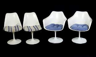 4 MID-CENTURY TULIP CHAIRS INCLUDING KNOLL