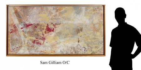 LARGE IMPORTANT SAM GILLIAM ABSTRACT PAINTING