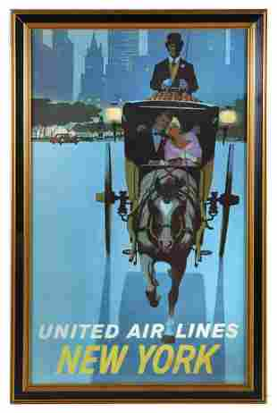 UNITED AIRLINES NEW YORK POSTER