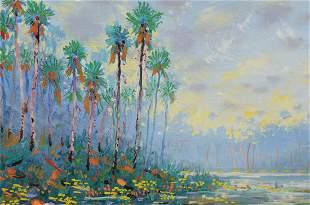 GREGORY BEHYMER SAINT JOHN'S RIVER FLORIDA PAINTIG