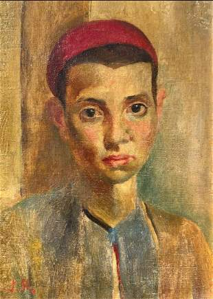 EARLY PAINTING BY JOHN BARBER PORTRAIT OF A BOY