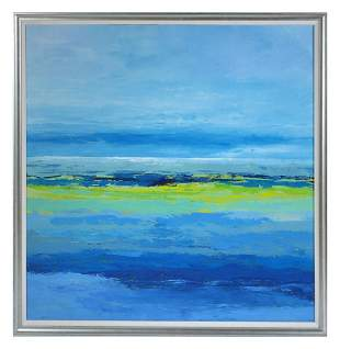 LARGE GERARD CARBO OCEAN ABSTRACT PAINTING