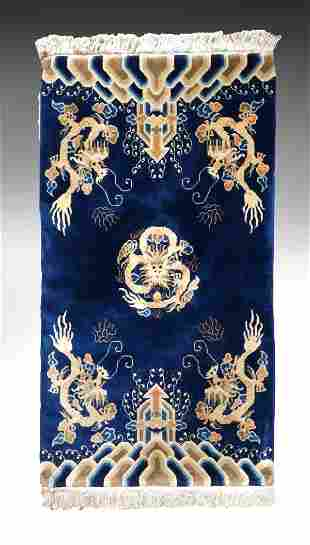 ART DECO CHINESE DRAGON CARPET