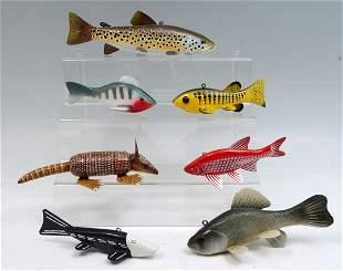 SEVEN PIECE FISH DECOY LOT
