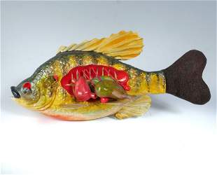 AAGE BJERRING INTERNAL VIEW OF A BLUEGILL DECOY