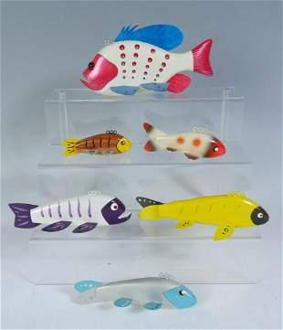 SIX PIECE FISH DECOY LOT