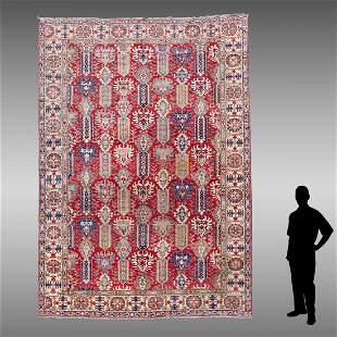 """TURKISH HAND KNOTTED WOOL RUG, 9'9"""" X 12'9"""""""