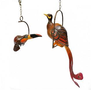 2 PC. SERGIO BUSTAMANTE BIRDS