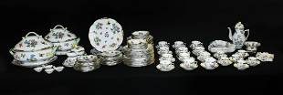 107 PC. HEREND ''QUEEN VICTORIA'' CHINA SERVICE