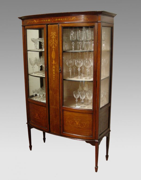 13: EDWARDIAN INLAY DISPLAY CABINET