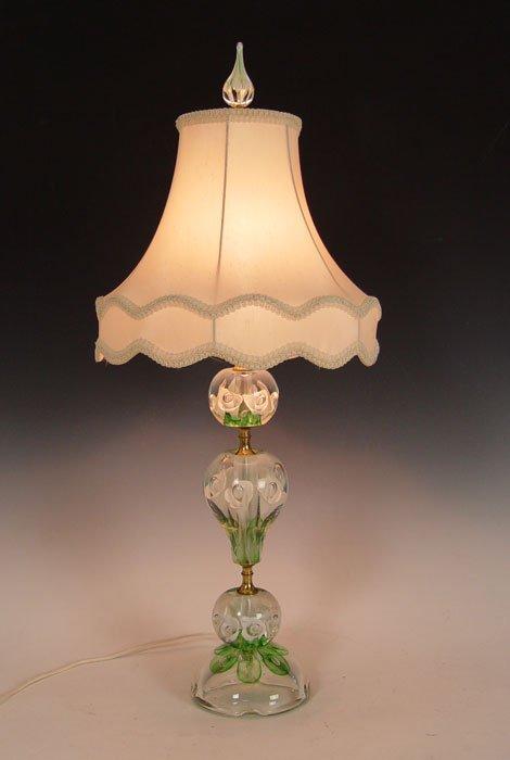 456: JOE ZIMMERMAN ART GLASS PAPERWEIGHT LAMP
