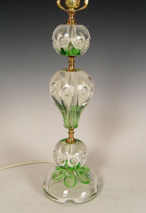 456: JOE ZIMMERMAN ART GLASS PAPERWEIGHT LAMP  - 2
