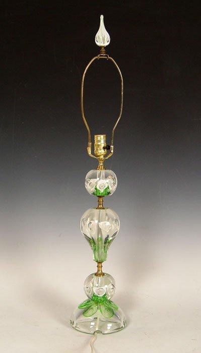 456: JOE ZIMMERMAN ART GLASS PAPERWEIGHT LAMP  - 4