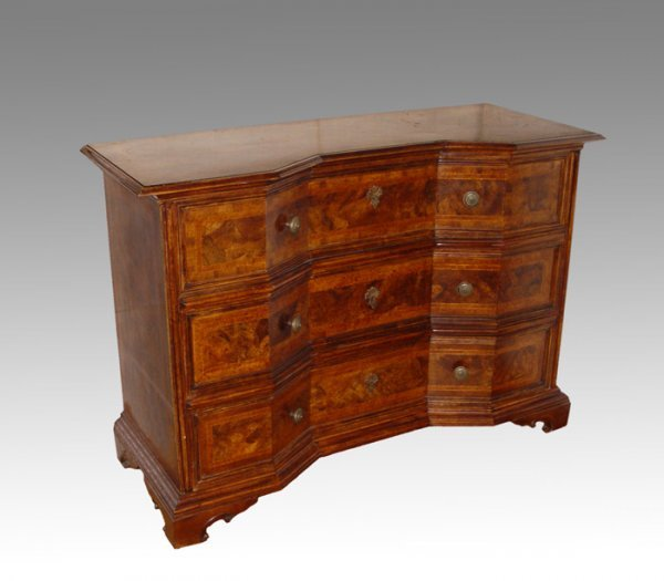 14A: UNUSUALLY   DESIGNED BURL DESK
