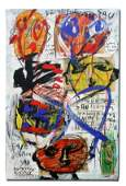 170 LARGE PETER KEIL MIXED MEDIA PAINTING 81