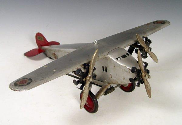 301: 1920'S STEELCRAFT BOYCRAFT PRESSED STEEL AIRPLANE
