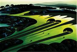 251 EYVIND EARLE SILENT MEADOW SERIGRAPH