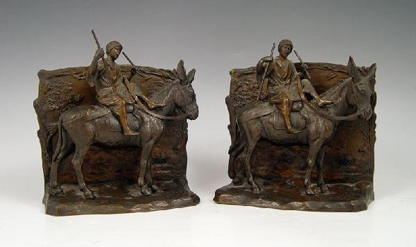 11: PAIR AUSTRIAN BRONZE BOOKENDS