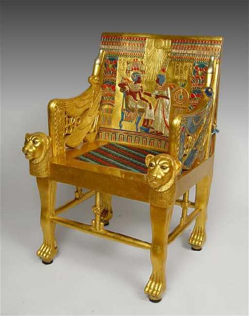 - 274: EGYPTIAN KING TUT REPLICA THRONE CHAIR