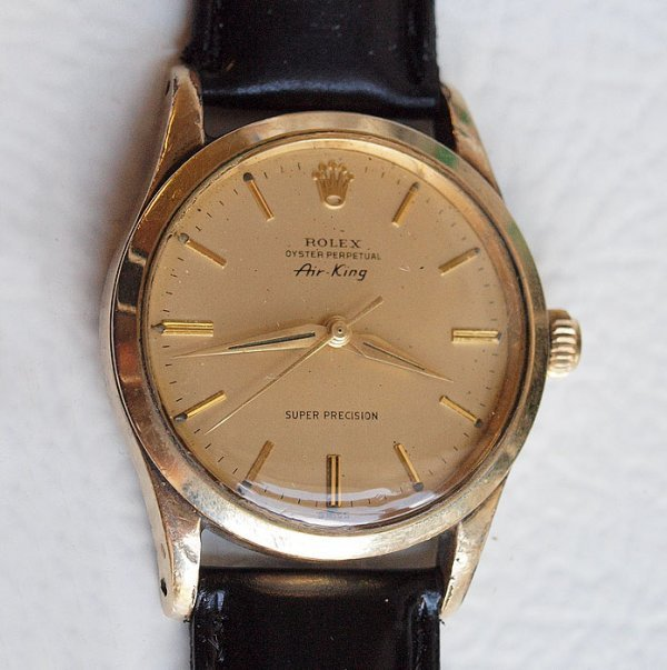 31A: ROLEX 1948 AIR KING GOLD CAPPED CLAD WATCH