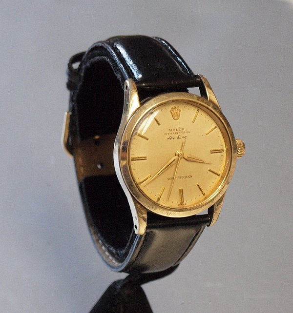 31A: ROLEX 1948 AIR KING GOLD CAPPED CLAD WATCH  - 2