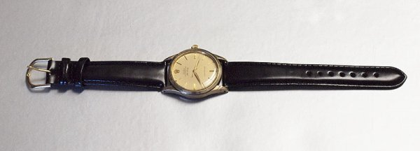 31A: ROLEX 1948 AIR KING GOLD CAPPED CLAD WATCH  - 3