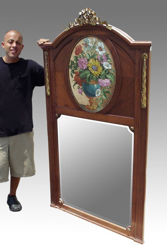 15: 6 ft tall FRENCH MIRROR