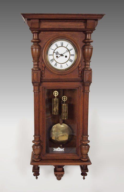 76: GUSTAV BECKER 2 WGHT VIENNA WALL REGULATOR CLOCK