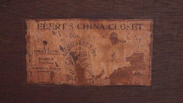 85: EBERT FURNITURE CARVED OAK BOWFRONT CHINA CLOSET - 4