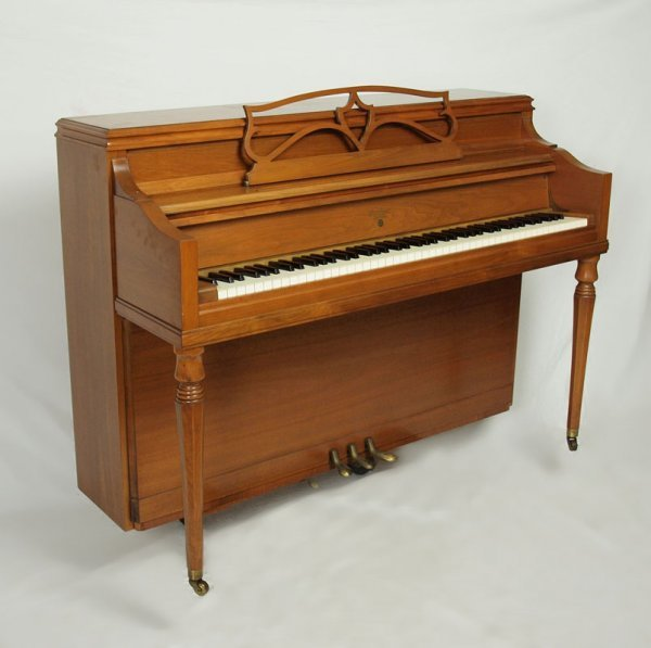 94: J. C. FISCHER SPINET PIANO WITH BENCH - 2