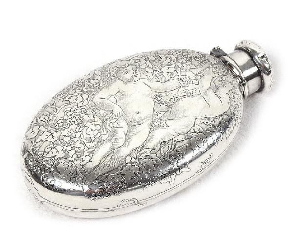 4: TIFFANY & CO. PUTTI AND GRAPE VINE STERLING FLASK